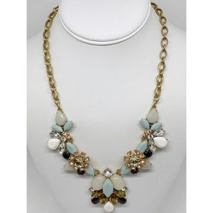 J. Crew Crystal Cluster Necklace